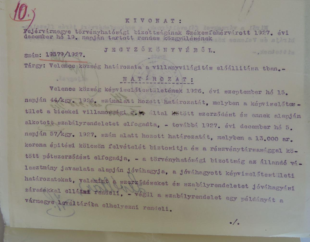 1927 villamos