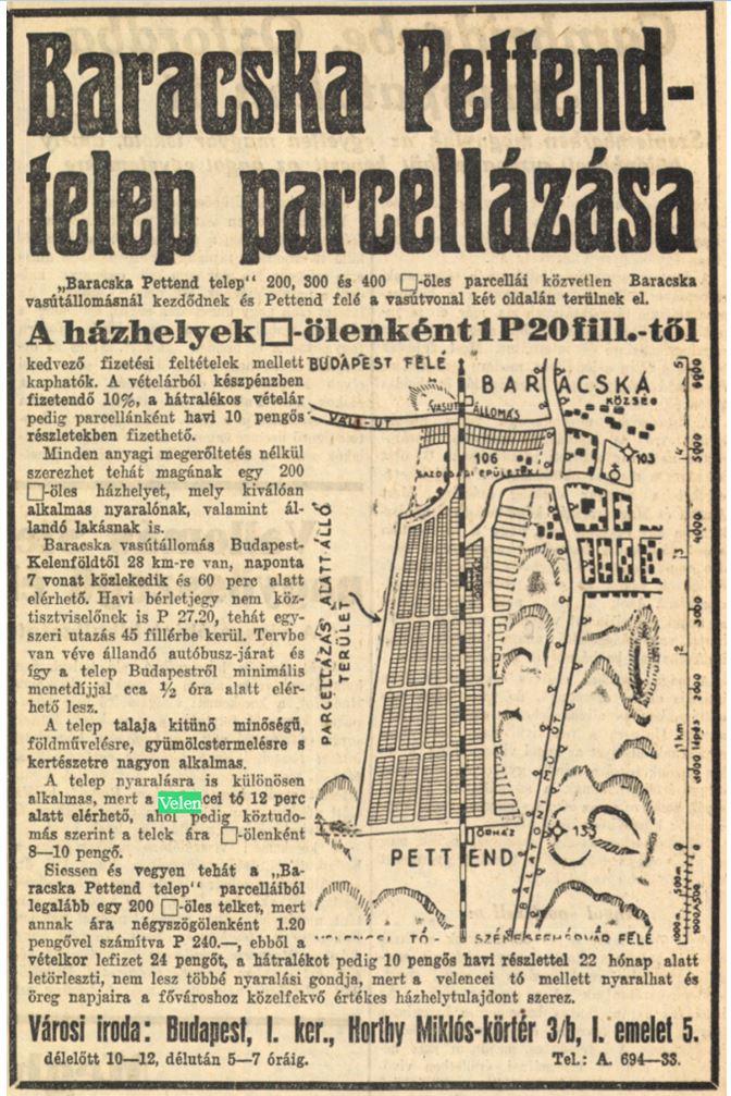 1931 BH Baracskai hird