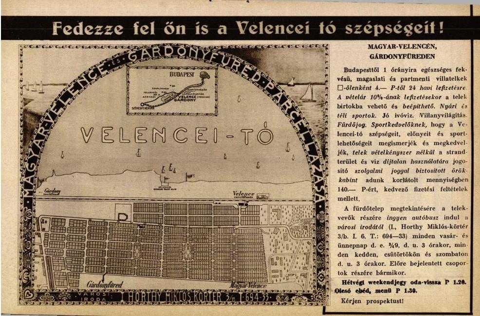 1932 Szinh elet hirdetes