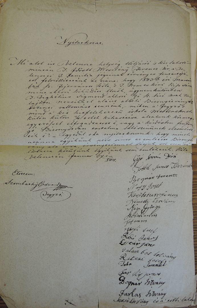 1844 kifogas