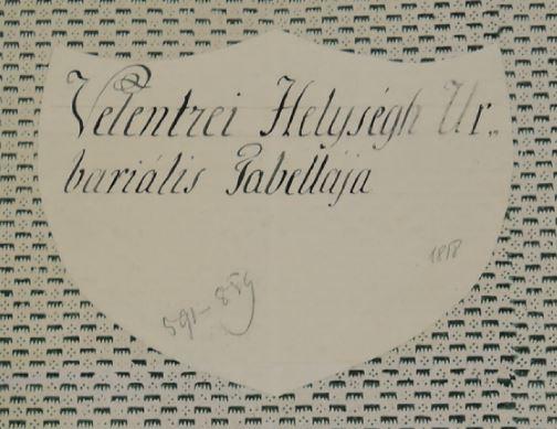 1818 Urbarialis Tabella