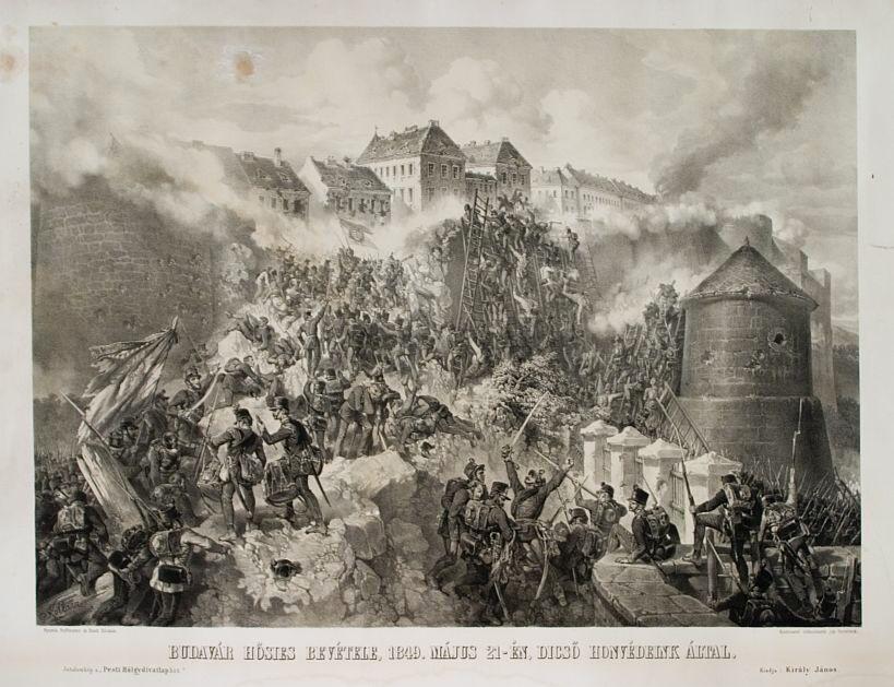 Franz Kollarž_Siege_of_Buda_(1849)