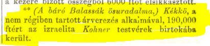 1863 VAU eladás