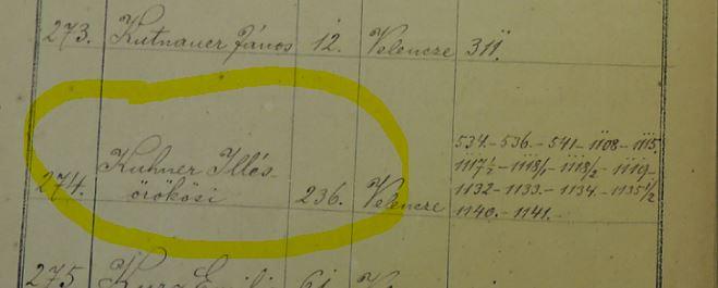 1877 birtokosjegyzék