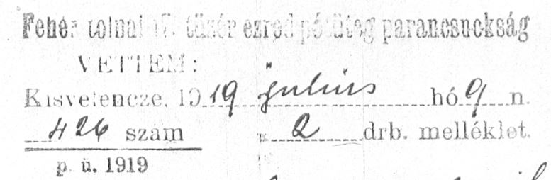 1919 pecsét