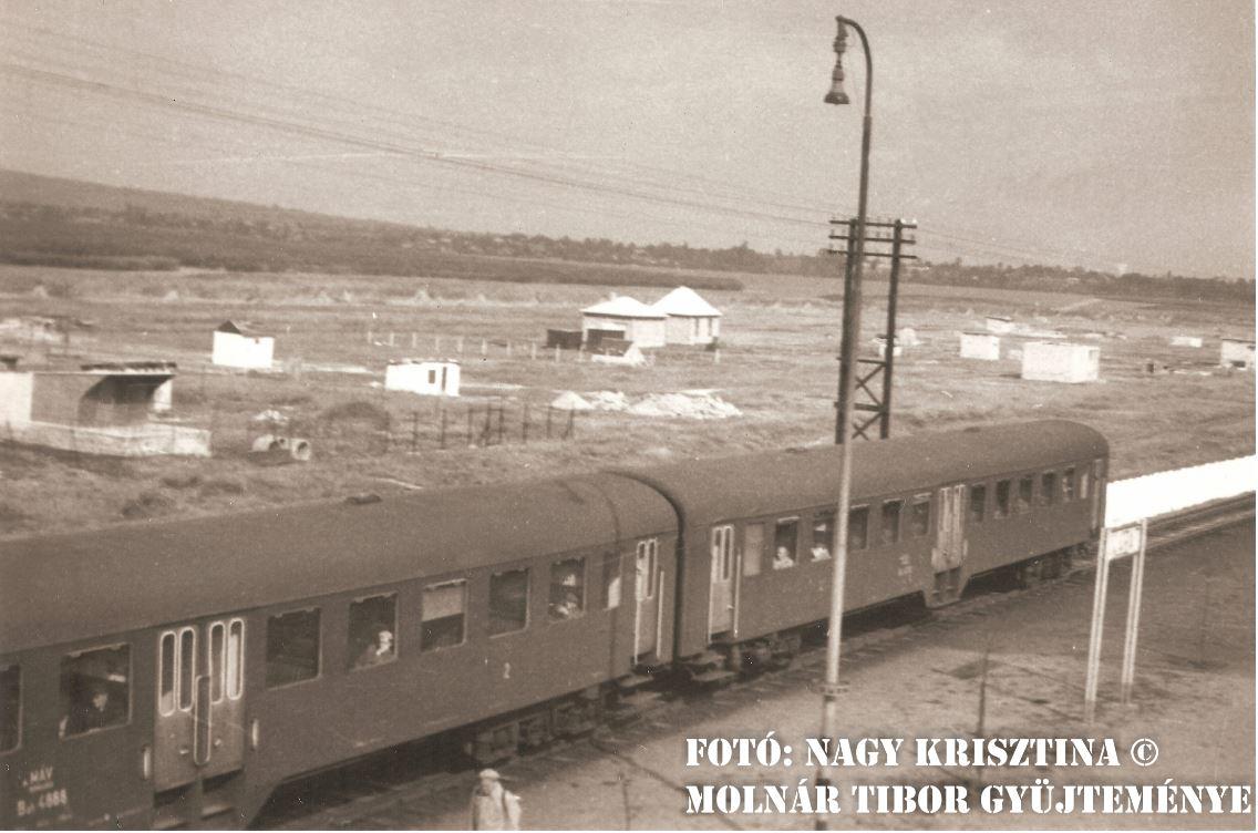 A velencefürdői, később beépült keleti rész 1962-ben. (forrás: Nagy Krisztina, Molnár Tibor magánszemély)